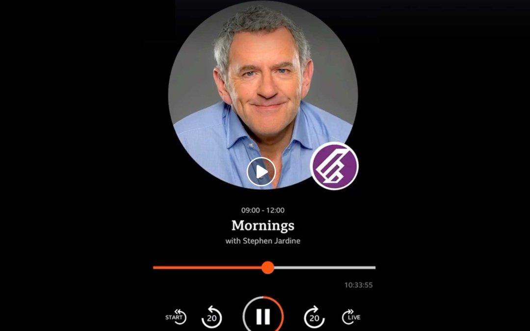 Stephen Jardine on BBC Radio Scotland interviewed with Tim Purves